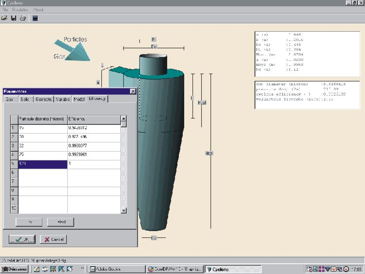 Cyclone Software For Design Modelling And Optimisation Of Gas Solid Separator Cyclone
